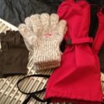 冬用手袋のレイヤリング 未脱脂ウール手袋とオーバーグローブ