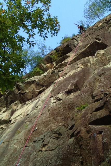 フリークライミングの岩場