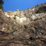初不動岩 正面壁
