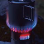 小さな焚き火台。エバニューのチタンアルコールストーブ