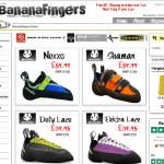 クライミング用品専門サイト バナナフィンガーズ