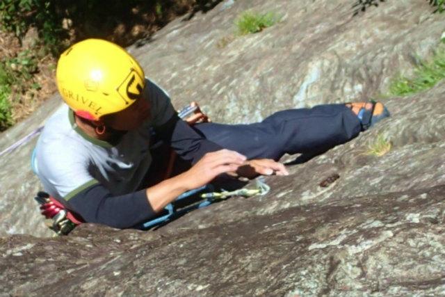 2P目登攀中 師匠撮影