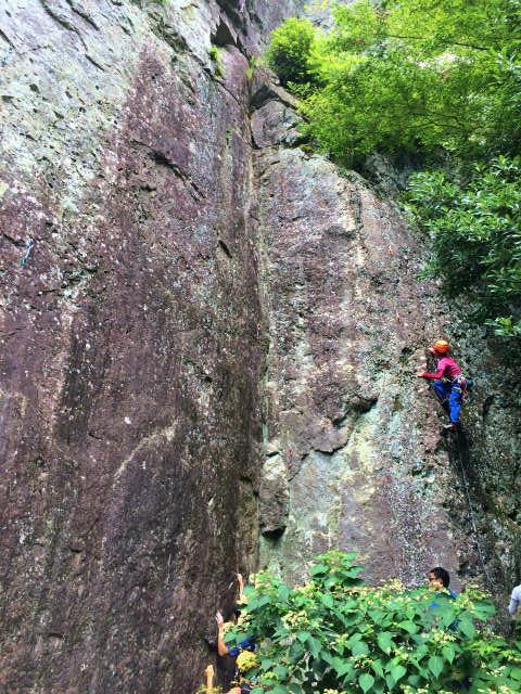 凹角を登るルート コーナー5.10b